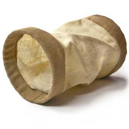 Ware Cat Burlap Tunnel Crinkle Ware Woven Jute Burlap Cat Tunnel Toy With Crinkle Sound