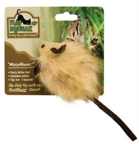 Our Playnsqueak Woolymouse Ourpets Woolymouse Squeaking Cat Toy *our Playnsqueak Woolymouse