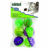 Our Go Cat Go Rollin Fun 6pc Ourpets Rolling In The Fun 6 Piece Multi Pack Cat Toy