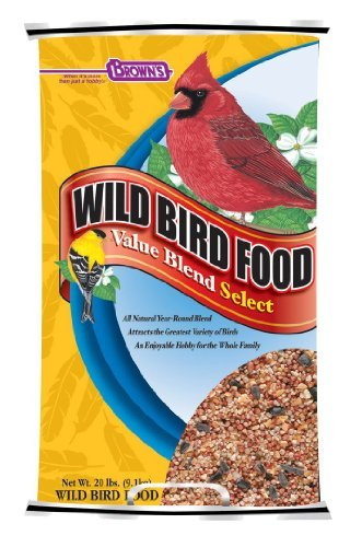Fmb Bird Food Wild Value 20lb F.M. Brown's Wild Bird Food 20 Pound Value Blend Select Poly Woven Bag