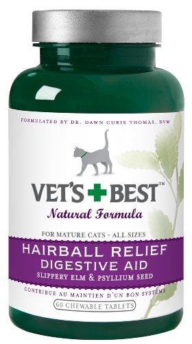Vet Best Hairball Relief 60ct Vet's Best Hairball Relief Digestive Aid 60 Chewable Tablets *vet Best Hairball Relief 60ct