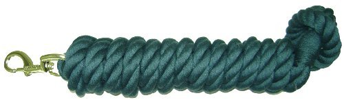 "Equ Lead Cotton Htr 3 4x10ft Hamilton Cotton Lead With Brass Plated Bolt Snap Dark Green 3 4"" Thick X 10' Long"