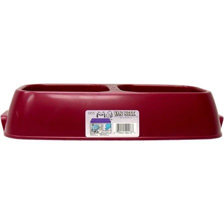 "Van Dish Dd3 Lg Double Diner Lightweight Diner Dog Dish Size Large (2.625"" H X 8.5"" W X 8.875"" D)"