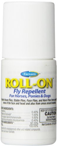 Equ Roll On Fly Repel 2oz Farnam Roll On Fly Repellent For Horses Ponies And Dogs 2 Ounce