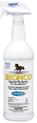Equ Bronco E3 Fly Spray 32oz Farnam Home & Garden 100502328 Bronco Fly Spray 32 Oz Quantity 12