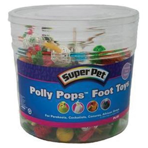 Spet Polly Pops Bulk Super Pet 60 Piece Polly Pops Foot Toys Bucket Assorted Spet Polly Pops Bulk
