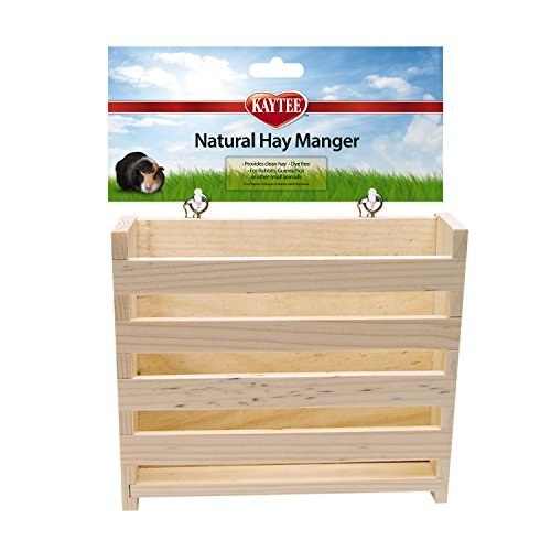 Spet Nat Wood Hay Manger Large Kaytee Natural Wooden Hay Manger Large