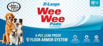 4paw Wee Wee Pads Pup Xl 40ct Four Paws Wee Wee Pads Extra Large 40 Pack