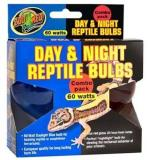 Zoo Day And Night Combo Pk 60w Zoo Med Day And Night Reptile 60 Watt Bulbs Combo Pack