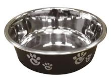 Spot Dish Barcelona Blk 64oz Ethical Pet Barcelona Matte And Stainless Steel Pet Dish 64 Ounce Licorice