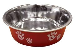 Spot Dish Matte Barcelona Red 8oz Ethical Pet Barcelona Matte And Stainless Steel Pet Dish 8 Ounce Raspberry