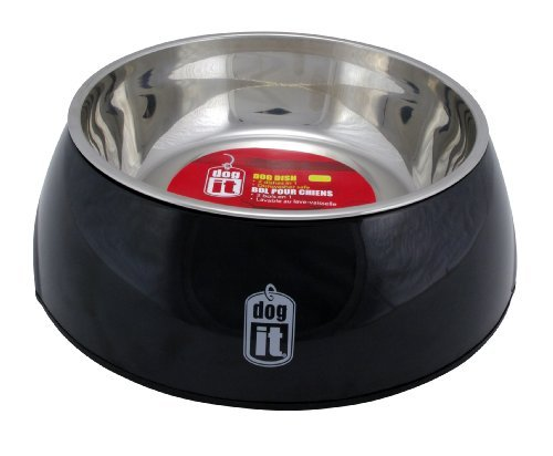 Hag Dogit Bowl 2in1 Md Blk Dogit 2 In 1 Durable Bowl Black Medium