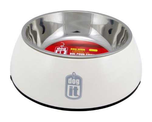 Hag Dogit Bowl 2in1 Md Wht Dogit 2 In 1 Durable Bowl White Medium