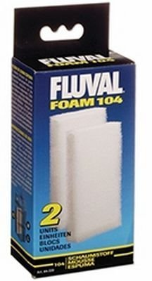 Fluval Filter Foam Block 104 1 Fluval Filter Foam Block (2 Pack) Compatible Model 104 105