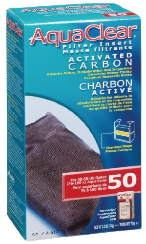 Aqua Clear 50 Actvtd Carbon Aquaclear 50 Activated Carbon 2 2 5 Ounce