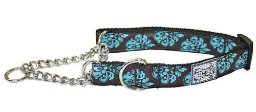 Rc Pet Products 3 4 Inch Training Martingale Collar Medium 9 14 Inch Modern Damask Training Collar M Modern Damask