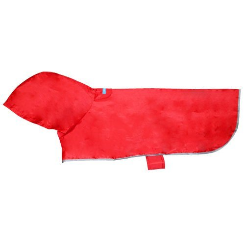 Rc Pet Products Packable Dog Rain Poncho Crimson Large Packable Rain Poncho L Crimson