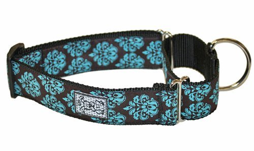 Rc Pet Products 1 1 2 Inch All Webbing Martingale Dog Collar Small Modern Damask All Webbing Training Collar S Modern Damask