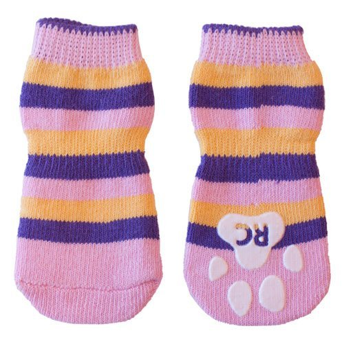 Rc Pet Pawks Xs Pink Stripes Rc Pet Products Pawks Dog Socks X Small Pink Stripes