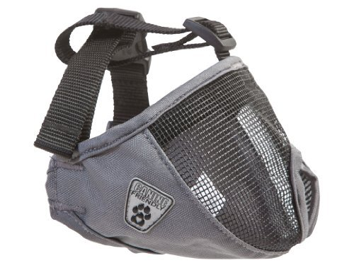 Canine Friendly Short Snout Dog Muzzle Small Charcoal Short Snout Muzzle S Charcoal