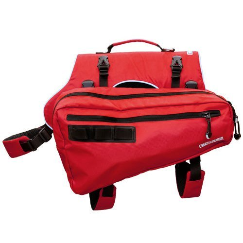 Canine Equipment Ultimate Trail Dog Pack Large Red Trail Pack Ult L Red