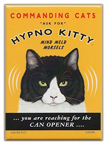 Retro Cats Refrigerator Magnets Hypno Kitty | Vintage Advertising Art