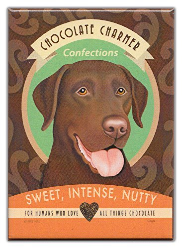 Retro Dogs Refrigerator Magnets Chocolate Lab | Vintage Advertising Art