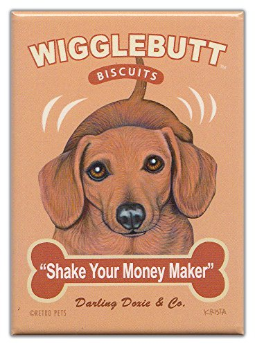 Retro Dogs Refrigerator Magnets Dachshund | Biscuits | Vintage Advertising Art