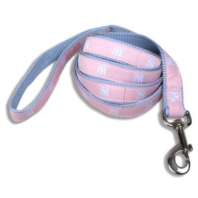 Zzsk9 Yankees Pink Lead Sm New York Yankees Baseball Dog Puppy Pet Pink Lead Leash Small Officially Licensed Mlb