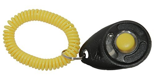 Trip Pro Training Clicker Dlx Starmark Black And Yellow Training Clicker With Yellow Wristband