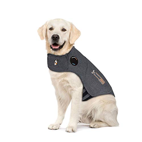 Thundershirt Grey Xl 60 110lb Thundershirt Dog Anxiety Treatment Wrap X Large Heather Grey