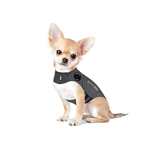 Thundershirt Grey Xxs < 12lb Thundershirt Grey Chest Xxsmall