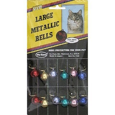 Xpet Cat Bells Metallic 12ct Vo Toys Round Cat Bells Metallic 12 Count
