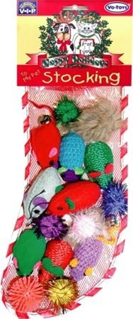 Vo Xmas Tt Gingerbread Boy Vo Toys Vip Happy Holidays 17 Piece Christmas Cat Kitten Toy Stocking Filled With Catnip Toys Ball & Mice!