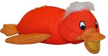"Xpet Mesh Duck Shim Shine 9"""" Vo Toys Shimmer N Shine Mesh Duck Dog Toy 9 Inch"
