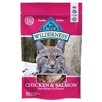 Blue Wild Cat Gf Smn Trt 2oz Blue Buffalo Wilderness Chicken & Salmon Grain Free Cat Treats 2 Oz