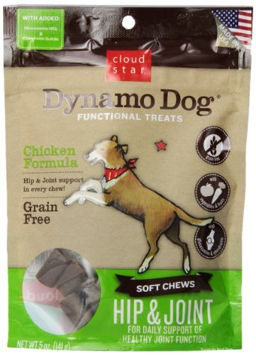 Cloud Dynamo Hip&jnt Ckn 5oz Cloud Star Dynamo Dog Hip And Joint Functional Treat Pouches Chicken 5 Ounce
