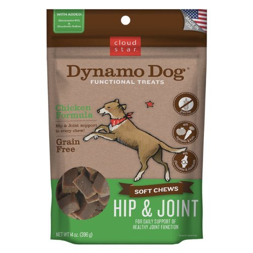 Cloud Dynamo Hp&jnt Ckn 14oz Cloud Star Dynamo Dog Hip And Joint Functional Treat Pouches Chicken 14 Ounce