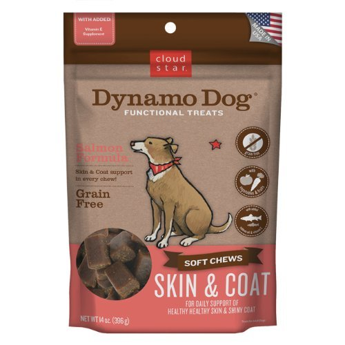 Cloud Dynamo Skn Coat Smn 14oz Cloud Star Dynamo Dog Skin And Coat Functional Treat Pouches Salmon 14 Ounce