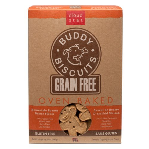 Cloud Gf Buddy Pb 14oz Cloud Star Grain Free Oven Baked Buddy Biscuits Dog Treats Homestyle Peanut Butter 14 Ounce