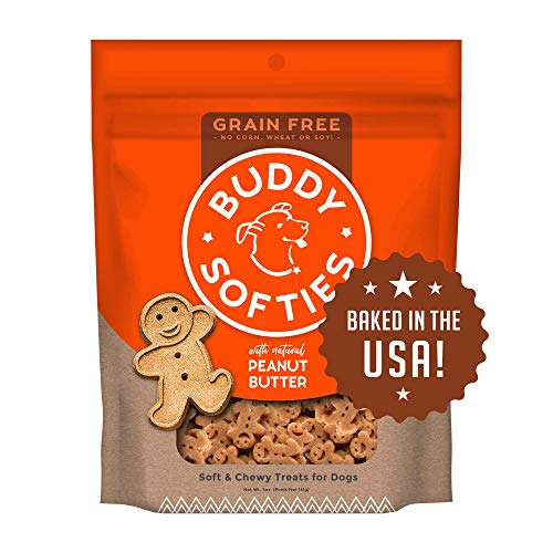 Cloud Buddy Gf Sft Pnut 5oz Cloud Star Grain Free Soft And Chewy Buddy Biscuits Dog Treats Homestyle Peanut Butter 5 Ounce