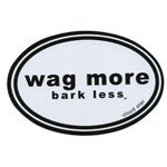 Cloud Magnet Wag More Wag More Bark Less Auto Car Refrigerator Magnet White Background With Black Font