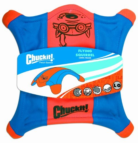 Chuckit Squirrel Lg Orange Blu Chuckit! Large Flying Squirrel 11 Inch