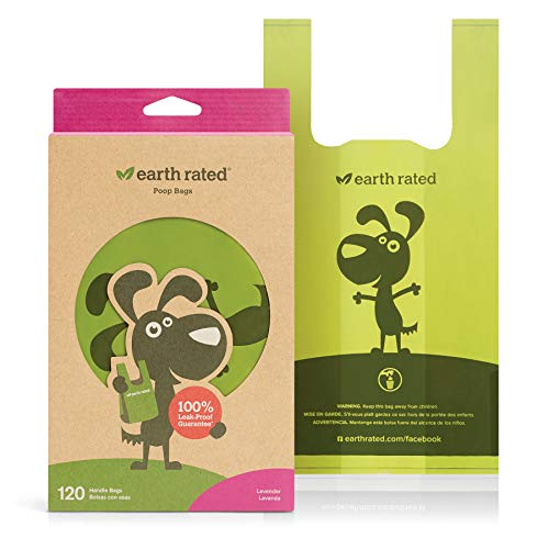 Earth Poop Bag W Handle 120ct 120 Count Earth Rated® Lavender Scented Dog Waste Bags With Handles (not On Rolls)