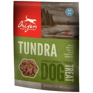 Orijen D Fzd Treat Tundra 3.5z Orijen Tundra Freeze Dried Dog Treats 3.5 Oz Bag (100 Treats)