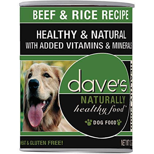 Dave's Naturally Healthy Beef And Rice Dog 13oz