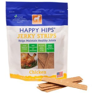 Dogs Usa Jerky Strp Hh Ckn 12z Happy Hips Chicken Jerky Strip Dog Treat 12 Ounce