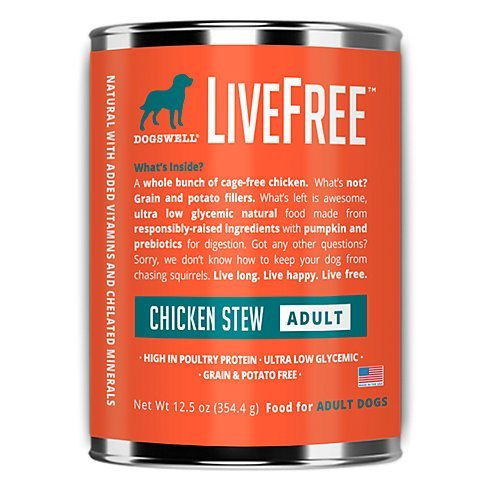 Dogswell Livefree Dog Chicken Stew 12.5oz