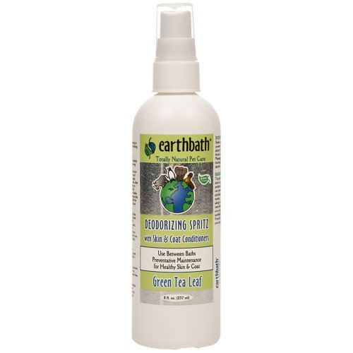Earthbath Spritz Grn Tea 8oz Earthbath Green Tea Leaf Three In One Deodorizing Spritz For Dogs 8 Ounce
