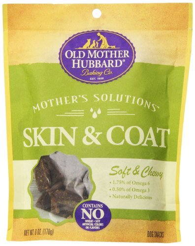 Omh Solutions Skin Coat 6oz Old Mother Hubbard Mother's Solutions Snacks For Dogs Soft And Chewy Skin And Coat 6 Ounce Pouch *omh Solutions Skin Coat 6oz